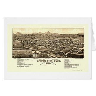 Ciudad de Canon, mapa panorámico del CO - 1882 Tarjeta De Felicitación