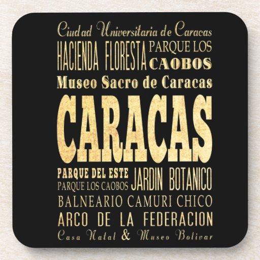 Ciudad de Caracas del arte de la tipografía de Ven Posavaso