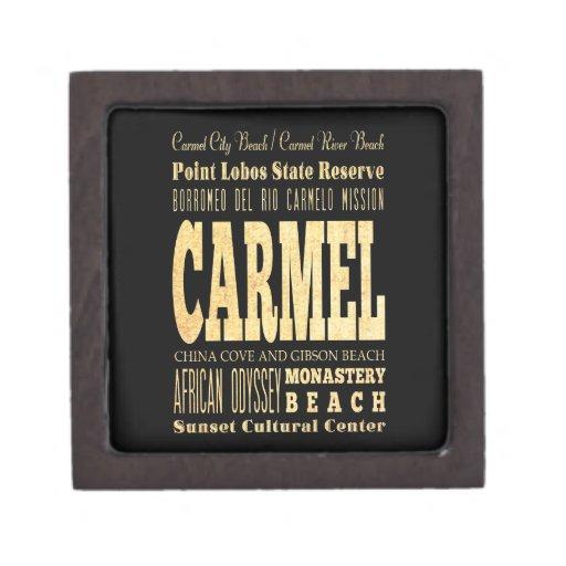 Ciudad de Carmel del arte de la tipografía de Cali Caja De Joyas De Calidad