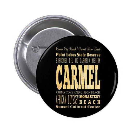 Ciudad de Carmel del arte de la tipografía de Cali Pins