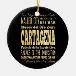 Ciudad de Cartagena del arte de la tipografía de Adorno Navideño Redondo De Cerámica
