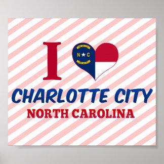 Ciudad de Charlotte, Carolina del Norte Poster