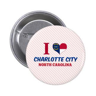 Ciudad de Charlotte, Carolina del Norte Pins