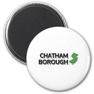 Ciudad de Chatham, New Jersey Imán Redondo 5 Cm