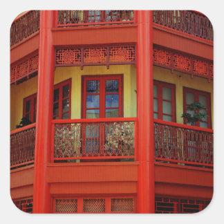 Ciudad de China Pegatina Cuadrada