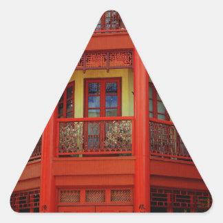 Ciudad de China Pegatina Triangular