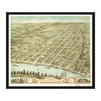 Ciudad de Clarksville Tennessee (1870) Impresion De Lienzo