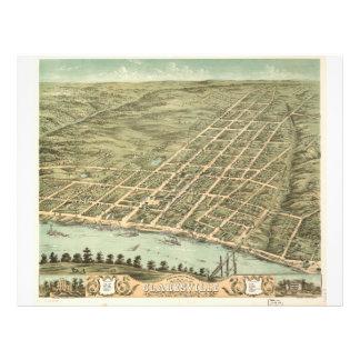 Ciudad de Clarksville Tennessee (1870) Membrete