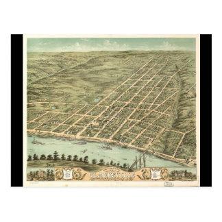 Ciudad de Clarksville Tennessee (1870) Postales