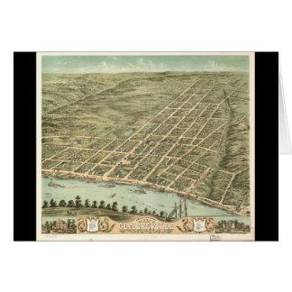 Ciudad de Clarksville Tennessee (1870) Tarjeta De Felicitación