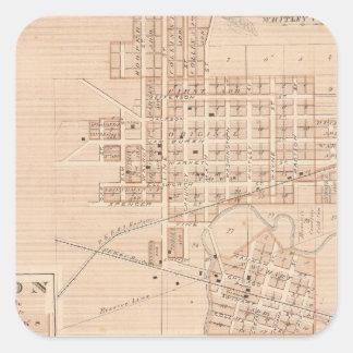 Ciudad de Columbia, Whitley Co Calcomanías Cuadradass Personalizadas