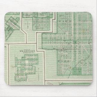 Ciudad de Columbus, Bartholomew Co con Greensburg Alfombrilla De Ratones
