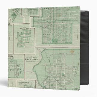 "Ciudad de Columbus, Bartholomew Co con Greensburg Carpeta 1 1/2"""