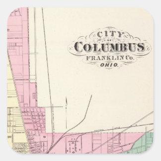 Ciudad de Columbus, el condado de Franklin, Ohio Calcomanía Cuadradas Personalizada