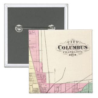 Ciudad de Columbus, el condado de Franklin, Ohio Pin Cuadrado