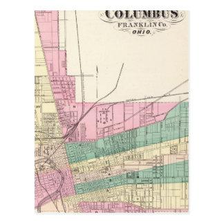 Ciudad de Columbus, el condado de Franklin, Ohio Postal