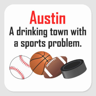 Ciudad de consumición de Austin A con un problema Colcomanias Cuadradass