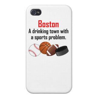 Ciudad de consumición de Boston A con un problema iPhone 4 Carcasa