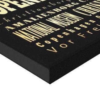 Ciudad de Copenhague del arte de la tipografía de