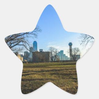Ciudad de Dallas Pegatina En Forma De Estrella