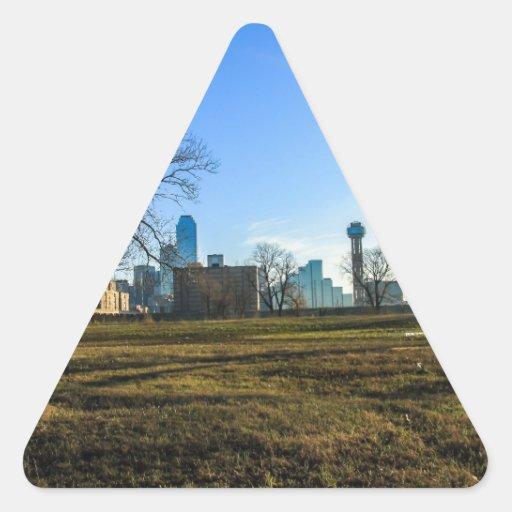 Ciudad de Dallas Pegatina Triangular