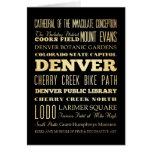 Ciudad de Denver del arte de la tipografía del est Tarjeta