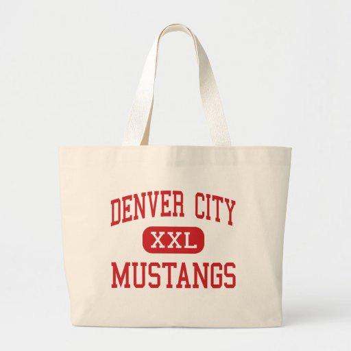 Ciudad de Denver - mustangos - alta - ciudad Tejas Bolsa Tela Grande