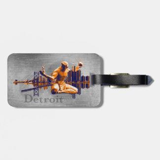 Ciudad de Detroit Etiqueta Para Maleta