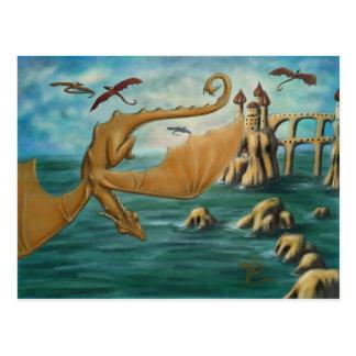 Ciudad de dragones tarjetas postales