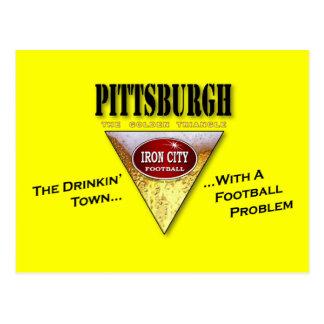 Ciudad de Drinkin con un problema del fútbol Tarjetas Postales