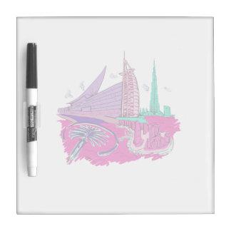 ciudad de Dubai ningún viaje gráfico design.png de Pizarra Blanca