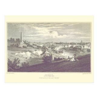 Ciudad de Dublín de la postal 1825 del parque de P