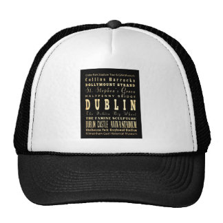 Ciudad de Dublín del arte de la tipografía de Irla Gorras