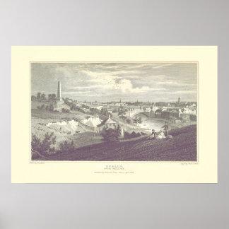 Ciudad de Dublín del poster 1825 del parque de
