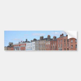 Ciudad de Dublín en el Liffey Pegatina Para Coche