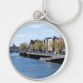 Ciudad de Dublín en el Liffey Llaveros Personalizados