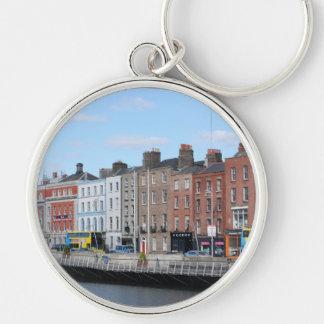 Ciudad de Dublín en el Liffey Llaveros