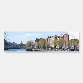 Ciudad de Dublín en el Liffey Pegatina Para Auto