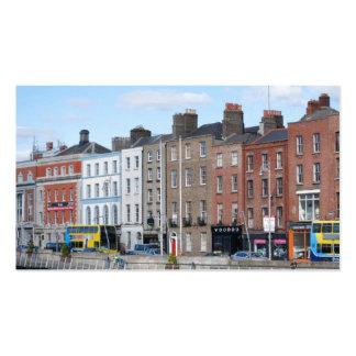 Ciudad de Dublín en el Liffey Tarjetas De Visita