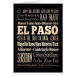 Ciudad de El Paso del arte de la tipografía del es Tarjeta De Felicitación