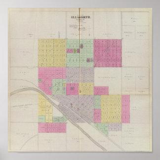 Ciudad de Ellsworth, el condado de Ellsworth, Kans Póster