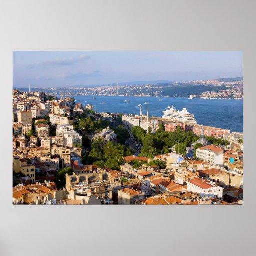Ciudad de Estambul en Turquía Póster