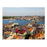 Ciudad de Estambul en Turquía Tarjeta Postal