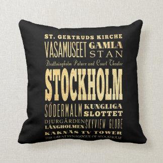 Ciudad de Estocolmo del arte de la tipografía de R Cojin