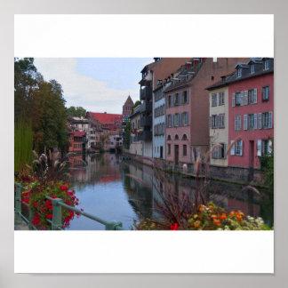 Ciudad de europa Estrasburgo Póster