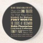 Ciudad de Fort Worth del arte de la tipografía del Posavasos Personalizados