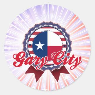 Ciudad de Gary, TX Pegatina