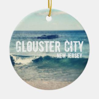 Ciudad de Glouster - 2013 - recuperación en la Adorno Redondo De Cerámica