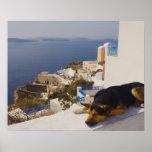 Ciudad de Grecia, isla de Santorini, Oia, el Póster