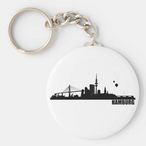 Ciudad de Hamburgo Llaveros